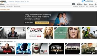 This screen shot shows movies and television programs available for free to Amazon Prime members. Amazon changed the dynamics in 2011 when it started offering movies and TV shows to Prime members for free. Unlike Netflix, Amazon offers only part of its collection for free. (AP Photo/Amazon.com)