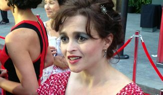 Actress Helena Bonham Carter walks the a red carpet at Universal Orlando Resort in Orlando, Fla. on Wednesday, June 18, 2014. (AP Photo/Tamara Lush) ** FILE **