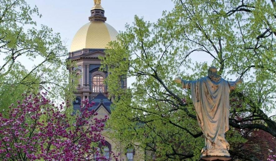 The University of Notre Dame campus in South Bend, Indiana.
