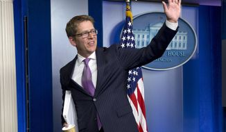 Former White House press secretary Jay Carney has predicted the 2014 midterm elections will be unpleasant for Democrats. (AP Photo/Jacquelyn Martin) ** FILE **