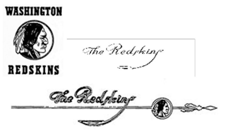 """A petition before the Federal Communications Commission says use of the word """"Redskins"""" over the airwaves when reporting on the professional football team causes a harrowing array of harms. Earlier this year, three logos for the Washington Redskins were included in a U.S. Patent and Trademark Office ruling stripping the team of its trademarks."""