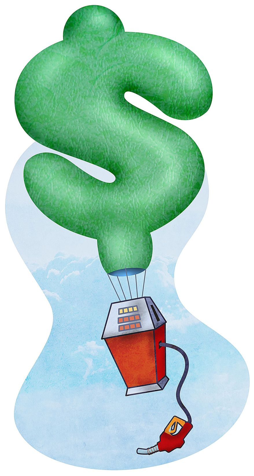 Inflation Dollar Gas Pump Illustration by Greg Groesch/The Washington Times