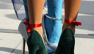 A pro-Kremlin lawmaker is seeking to introduce official standards in Russia that would limit a person's shoe height, essentially banning women from wearing sky-high heels. (Wikimedia Commons)