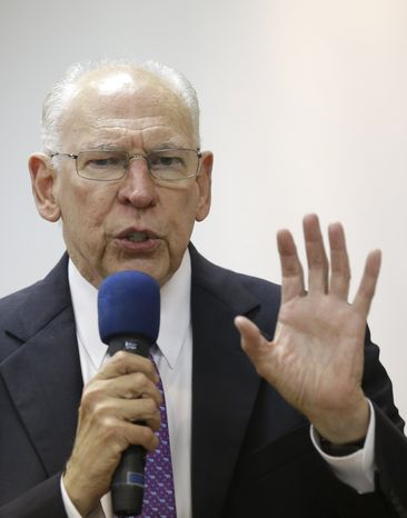 Rafael Cruz, father of Texas Sen. Ted Cruz, speaks during a tea party gathering on Jan. 10, 2014, in Madisonville, Texas. (Associated Press) ** FILE **