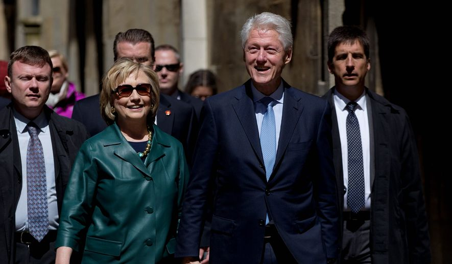 Bill Clinton and Hillary Rodham Clinton. (Associated Press) ** FILE **