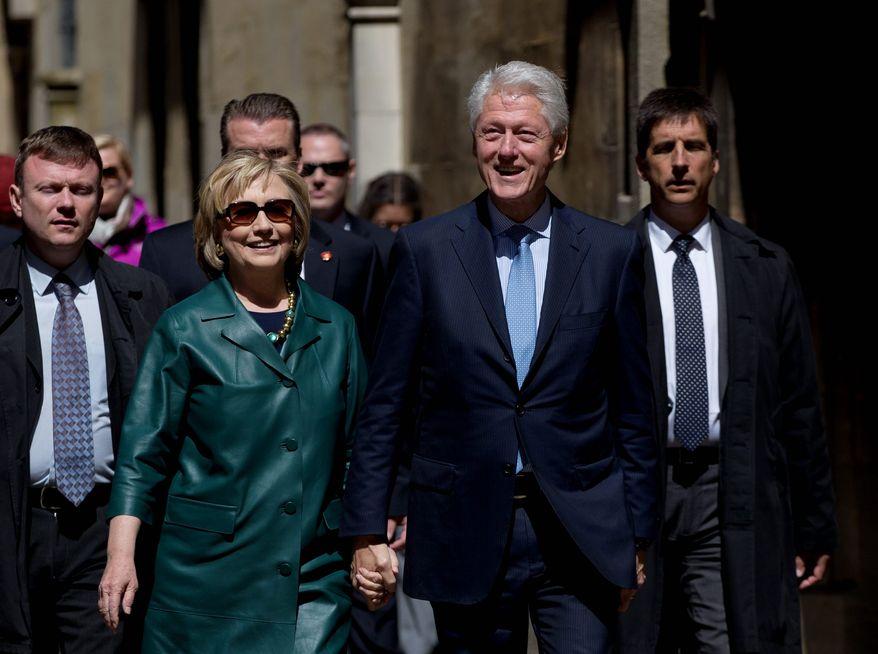 Bill Clinton and Hillary Rodham Clinton. (Associated Press) ** FILE **