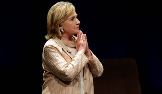"""Former Secretary of State Hillary Rodham Clinton speaks about her new book """"Hard Choices"""" on Friday, June 20, 2014, in Austin, Texas. (AP Photo/Eric Gay)"""