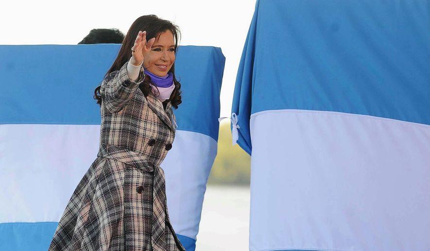 ** FILE ** Argentina's President Cristina Fernandez de Kirchner. (Associated Press)