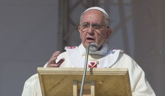 Pope Francis told members of the Italian Mafia that they were officially excommunicated from the Catholic Church, according to news reports. (AP Photo/Alessandra Tarantino)