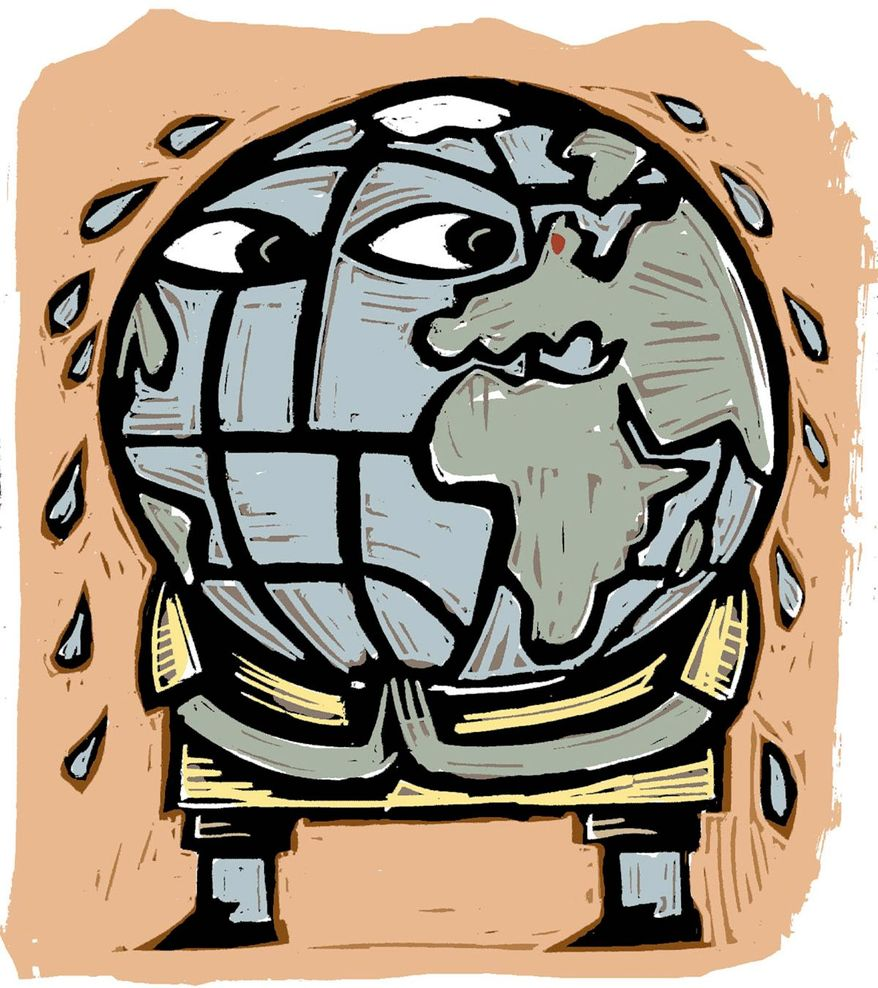 Illustration on global warming fearists by William Brown/Tribune Content Agency