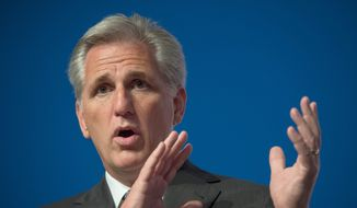 """The future of the Ex-Im Bank, which many conservatives condemn as """"corporate welfare"""" to well-heeled U.S. exporters, was put in doubt when Rep. Kevin McCarthy, the California Republican and the incoming majority leader for the House GOP caucus, said Sunday he opposes a reauthorization vote. The White House has expressed strong support for reauthorization, with press secretary Josh Earnest going so far as to invoke former President Ronald Reagan's support of the bank in an effort to sway Mr. McCarthy. (Associated Press)"""