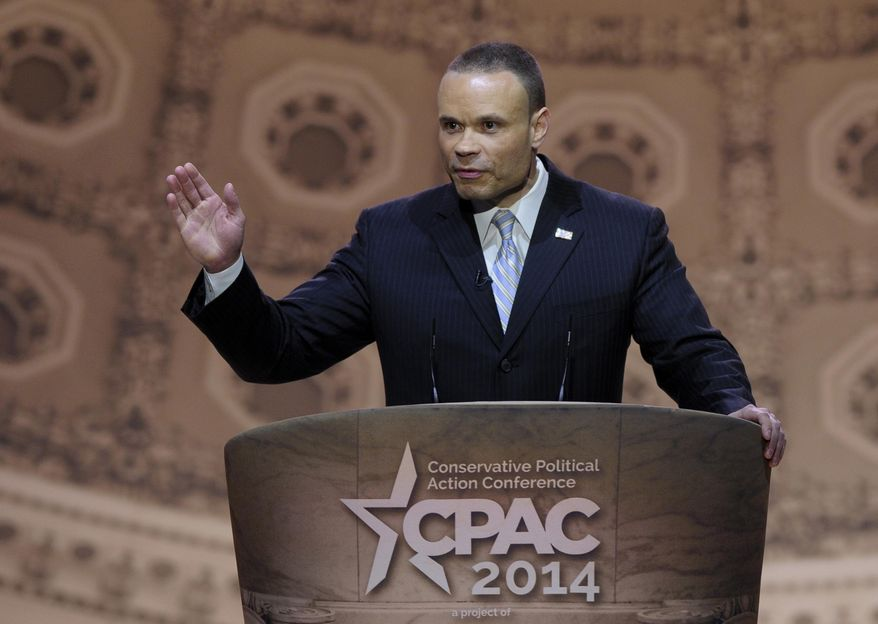 In this March 6, 2014, file photo, former Secret Service agent Dan Bongino speaks at the Conservative Political Action Committee annual conference in National Harbor, Md. (AP Photo/Susan Walsh, File)