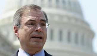 Rep. Andy Harris, Maryland Republican, speaks at a news conference outside the U.S. Capitol in Washington on June 28, 2012. (Associated Press) **FILE**