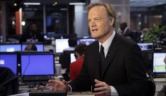 "MSNBC host Lawrence O'Donnell returned to his show ""Last Word"" on Monday night after recovering from a car accident, offering thanks to his political foe, David Koch, for contributing to the hospital that took such good care of him. (Associated Press) ** FILE **"
