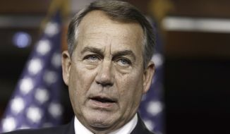 House Speaker John Boehner announced June 25 that the House was going to sue President Obama. (AP Photo/J. Scott Applewhite)