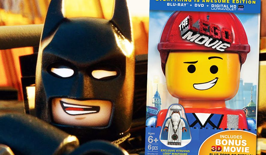 Batman co-stars in The Lego Movie now available in an Everyhting is Awesome Edition for Blu-ray and DVD players.