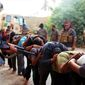 "FILE - This file image posted on a militant website on Saturday, June 14, 2014, which has been verified and is consistent with other AP reporting, appears to show militants from the al-Qaida-inspired Islamic State of Iraq and the Levant (ISIL) leading away captured Iraqi soldiers dressed in plain clothes after taking over a base in Tikrit, Iraq.  Iraqi insurgents executed at least 160 captives earlier this month in the northern city of Tikrit, Human Rights Watch said Friday, June 27, 2014, citing an analysis of satellite imagery and grisly photos released by the militants. The U.S.-based rights group said militants from the Islamic State of Iraq and the Levant killed between 160 and 190 men in two locations in Tikrit between June 11 and June 14. ""The number of victims may well be much higher, but the difficulty of locating bodies and accessing the area has prevented a full investigation,"" it said.(AP Photo via militant website, File)"