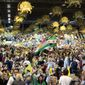 Exiled Iranians gathered in Villepinte, France, to listen to Maryam Rajavi, the leader of the National Council of Resistance of Iran. (Associated Press)