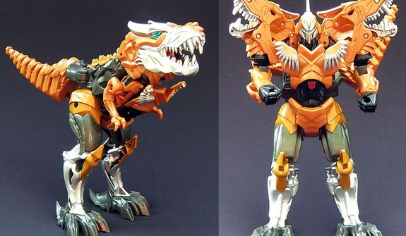Flip and Change Grimlock for Hasbro's Transformers: Age of Extinction collection. (Photo by Joseph Szadkowski/The Washington Times)