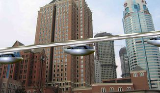 On a higher plane: SkyTran is using magnetic levitation technology to build a high-speed mass-transit system. (SkyTran Inc.)