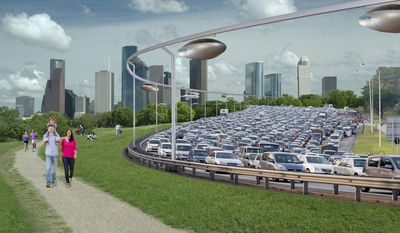 SkyTran CEO Jerry Sanders says he doesn't expect the levitating pods to take over the mass-transportation systems in major cities but hopes more people will stop jamming highways with cars and start using SkyTran as a convenient and efficient way to travel. (Skytran Inc.)