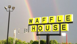 An exterior photo of a Waffle House from the company's facebook page.