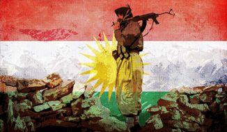Kurdish Soldier Illustration by Greg Groesch/The Washington Times