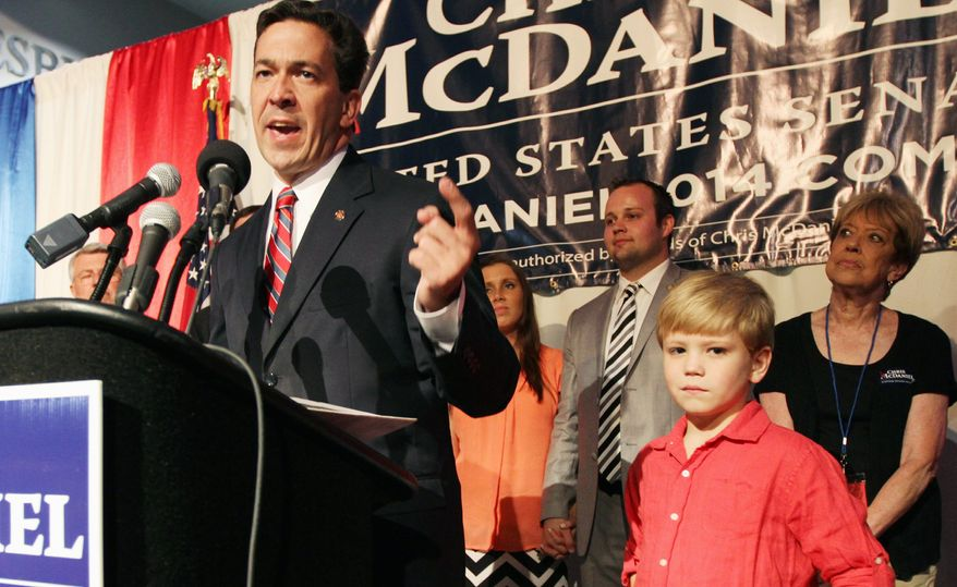 "** FILE ** State Sen. Chris McDaniel has yet to concede victory to Sen. Thad Cochran. His campaign says it wants to investigate ""irregularities"" in the primary race as it considers whether to pursue a legal challenge. (Associated Press)"