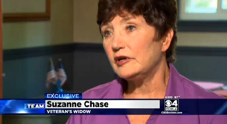 The Department of Veterans Affairs has issued an apology after Suzanne Chase received a letter offering her husband an appointment almost two years after he died. (WBZ-TV)