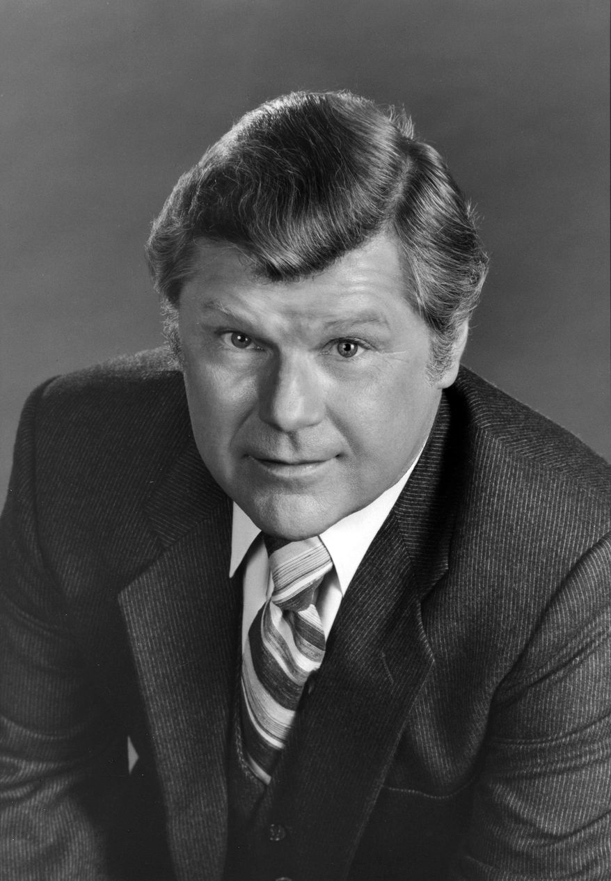"""This Feb. 24, 1982, photo released by ABC shows actor Bob Hasting, a cast member on the daytime series """"General Hospital,"""" in Los Angeles. Hastings, an actor best known from the 1960s sitcom """"McHale's Navy,"""" died Monday, June 30, 2014, at his home in Burbank, Calif.  He was 89. (AP Photo/ABC Photo Archives)"""