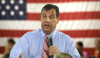 ** FILE ** This June 25, 2014, file photo shows New Jersey Gov. Chris Christie speaking in Haddon Heights, N.J. (AP Photo/Mel Evans, File)
