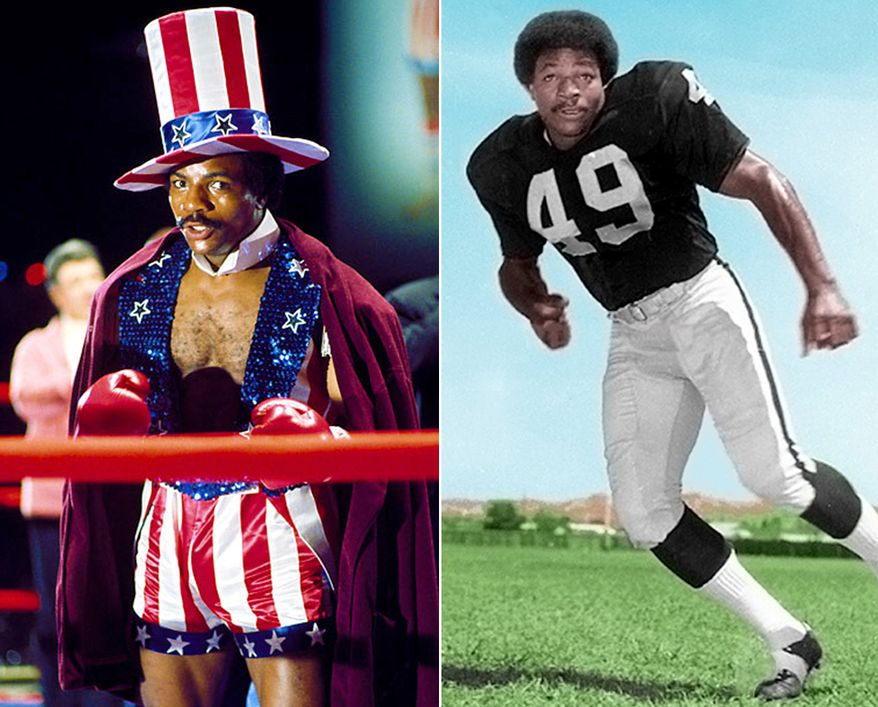 Carl Weathers is best known for portraying Apollo Creed in the Rocky series of films, Dillon in Predator, Chubbs Peterson in Happy Gilmore and Little Nicky, and an exaggeratedly frugal semi-fictionalized version of himself in the television series Arrested Development. Weathers played linebacker for for San Diego State University, which led to a brief professional career with the Oakland Raiders.