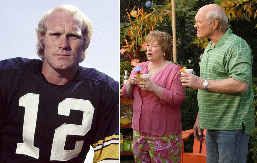 Former Pittsburgh Steelers quarterback Terry Bradshaw, has been a TV analyst and co-host of Fox NFL Sunday. He played 14 seasons with Pittsburgh, won four Super Bowl titles in a six-year period (1975, 1976, 1979, and 1980), becoming the first quarterback to win three and four Super Bowls, and led the Steelers to eight AFC Central championships. He was inducted into the Pro Football Hall of Fame in 1989, his first year of eligibility.  He had a memorable role in the 1981 comedy 'The Cannonball Run,' he also played an eccentric father to Matthew McConaughey in the 2006 comedy 'Failure to Launch' (inset).  AP Photo