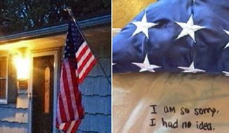 An American flag that was flown over the World Trade Center ruins after 9/11 and was stolen last week from the front porch of the family of a fallen firefighter has been returned with an apology note. (NBC 4 Washington)