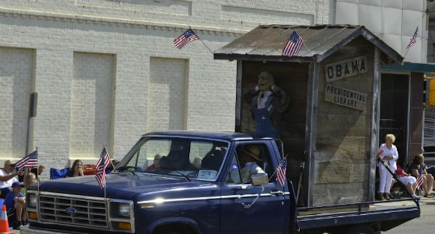 "The Nebraska Democratic Party is calling a Fourth of July parade float that poked fun at President Obama the ""worst shows of racism and disrespect for the office of the presidency that Nebraska has ever seen."" (Omaha World-Herald)"