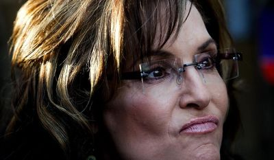 **FILE** Former Alaska Gov. Sarah Palin (Associated Press/Naples Daily News, Scott McIntyre)