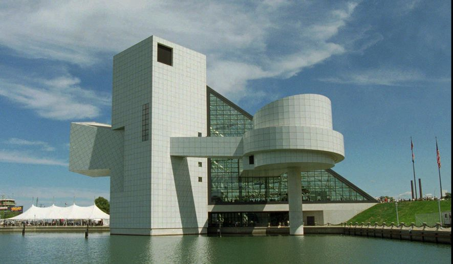 In this Sept. 2, 1995, file photo, The Rock and Roll Hall of Fame and Museum in Cleveland is visible. The hall is Cleveland's biggest international tourist attraction. (AP Photo/Mark Duncan, File)