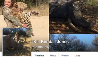 "Facebook has allowed the ""Kill Kendall Jones"" community page to stay, despite deleting several of the Texas teen's hunting photos for violating the social media network's animal abuse policies. (Facebook)"