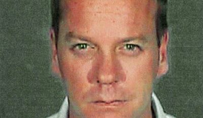 KIEFER SUTHERLAND - Shown in this police booking photo released by the Glendale Police Department showing Kiefer Sutherland in Glendale Calif. Wednesday Dec. 5,2007. Sutherland was sentenced Wednesday to 48 days in jail for racking up a second drunken driving arrest in three years and immediately reported to a Glendale lockup. (AP Photo/Glendale Police Dep.)