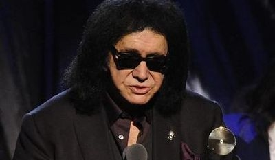Hall of Fame Inductees, KISS, Paul Stanley, Peter Criss, Gene Simmons, and Ace Frehley speak at the 2014 Rock and Roll Hall of Fame Induction Ceremony on Thursday, April, 10, 2014 in New York. (Photo by Charles Sykes/Invision/AP)