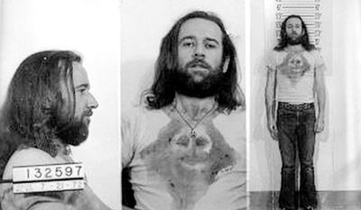 GEORGE CARLIN - the comedian was arrested by Wisconsin police in July 1972 and charged with public indecency for violating obscenity laws by performing the routine 'Seven Words You Can Never Say on Television.'