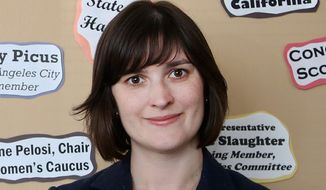 Sandra Fluke, the former Georgetown University law student who testified on birth control and was subjected to denigrating comments by radio host Rush Limbaugh, is running for the California state Senate to represent the coastal communities of Los Angeles. She finished second in the primary behind another Democrat, Ben Allen.  (AP Photo/Nick Ut)