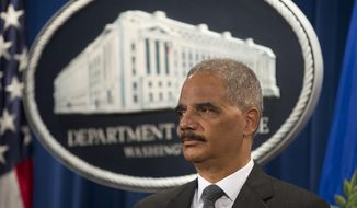 Attorney General Eric Holder participates in a news conference at the Justice Department in Washington Monday, July 14, 2014, where it was announced that Citigroup will pay $7 billion to settle an investigation into risky subprime mortgages, the type that helped fuel the financial crisis. The agreement comes weeks after talks between the sides broke down, prompting the government to warn that it would sue the New York investment bank. The bank had offered to pay less then $4 billion, a sum substantially less that what the Justice Department was asking for. The settlement stems from the sale of securities made up of subprime mortgages, which fueled both the housing boon and bust that triggered the Great Recession at the end of 2007. (AP Photo/Pablo Martinez Monsivais)