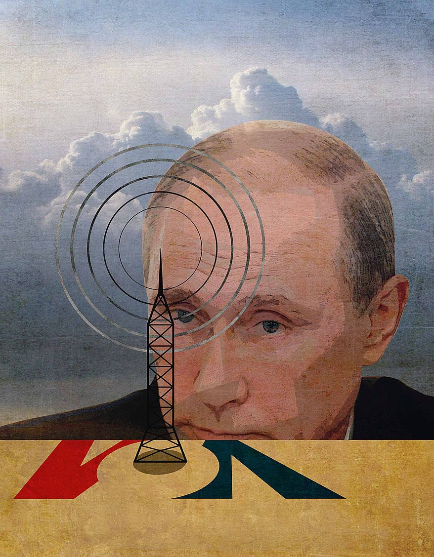 Voice of Propaganda Illustration by Greg Groesch/The Washington Times
