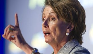 House Minority Leader Nancy Pelosi of Calif. speaks at the Generation Progress's annual Make Progress National Summit in Washington, Wednesday, July 16, 2014. The summit brings together progressive leaders and young people. (AP Photo/Cliff Owen) ** FILE **