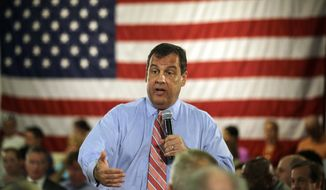 **FILE** New Jersey Gov. Chris Christie addresses a town hall meeting in Haddon Heights, N.J., on June 25, 2014. (Associated Press)