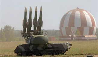 A Russian Buk-M2 air defense system.