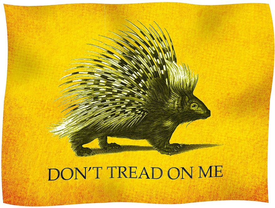 Libertarian Porcupine Flag Illustration by Greg Groesch/The Washington Times