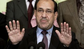 Iraqi Prime Minister Nouri al-Maliki.  (AP Photo, Hadi Mizban, File)