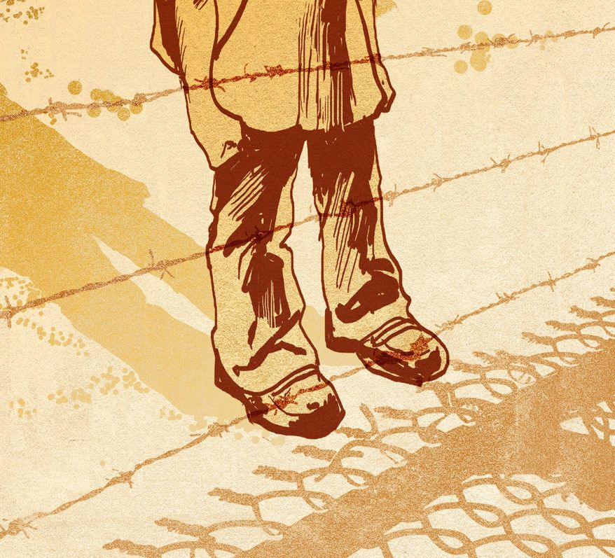 Illustration on the crisis on the U.S. southern border by Paul Tong/Tribune Content Agency